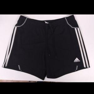 adidas black and white athletic shorts size M